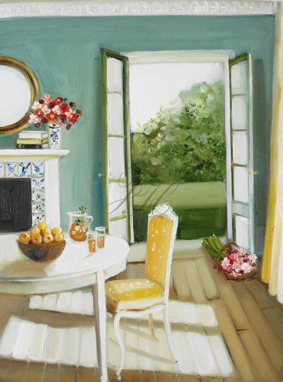 Janet Hill is one of my favorite artists.  I would love to jump into one of her paintings :)