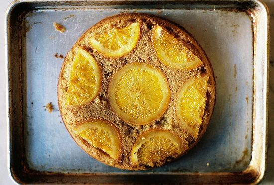 orange almond upside down cake