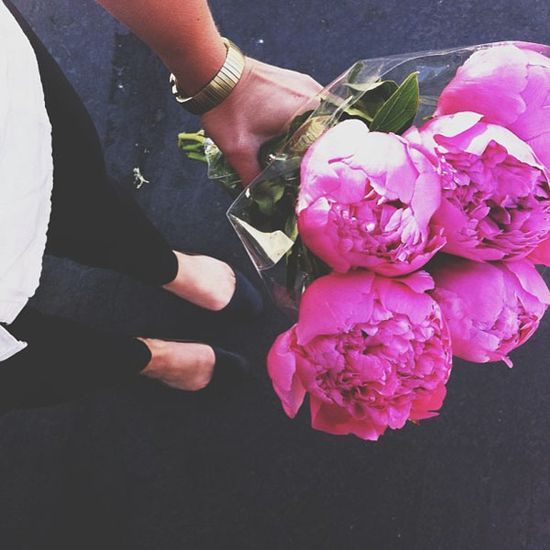 bright pink peonies ... such a dream !