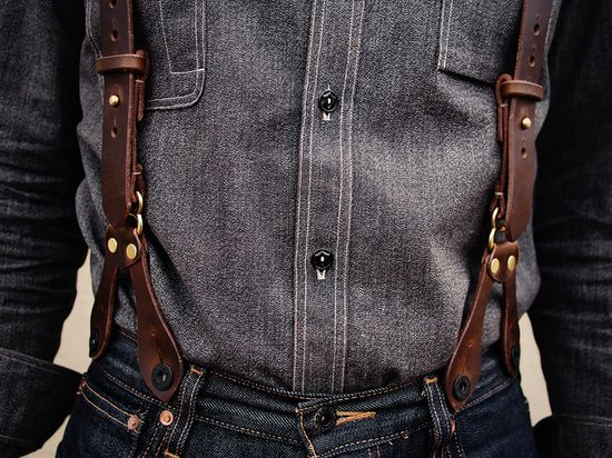 Olive chromexcel braces for Alex by Hollows Leather, via Flickr::via amensworld ABSOLUTELY LOVE THESE.  LW @ SSC