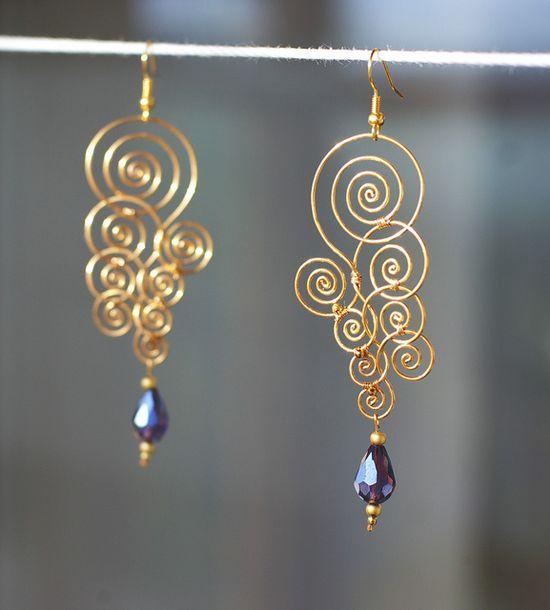 wire earrings :)