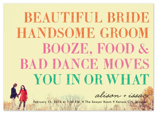Wedding Ideas 162: This Should Be Your Save The Date! Lol