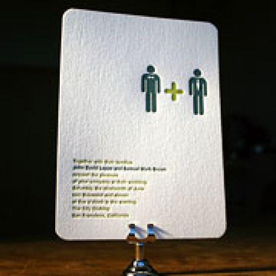 Invitations by www.bellafigura.com / wedding / gay wedding stationery / / Toby Designs