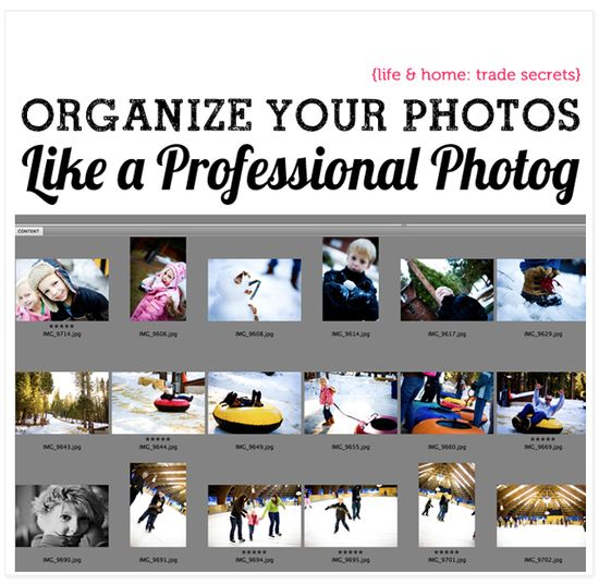 Tips from a professional photographer on how to store and organize all those digital photos.
