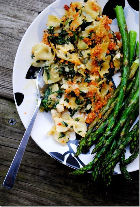 {spinach + artichoke chicken casserole}