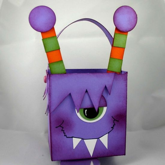Stampin' Up!  Fancy Favor Box  Dana Newsom  Monster