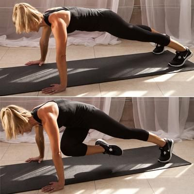 Plank Knee Twists...works abs and upper body 3 sets 10 reps no break in between