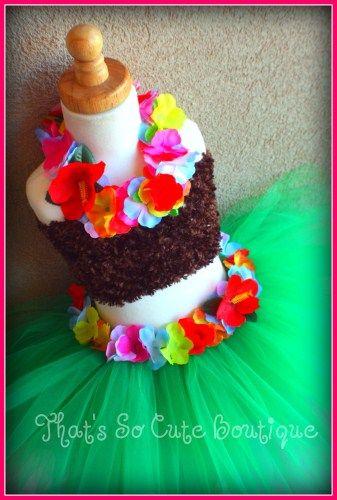 Hula Girl Tutu Dress Set