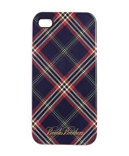 Tartan iPhone case.
