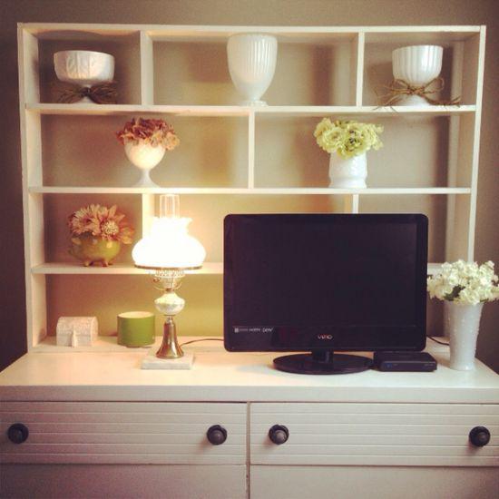 I love milk glass! New bedroom decor!