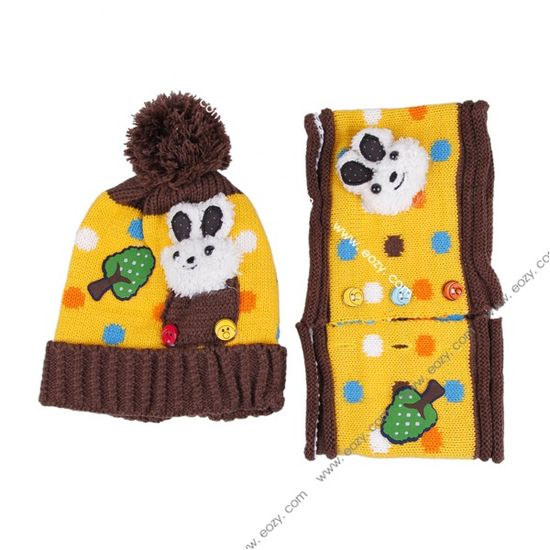 Lovely Baby Suit Pocket Rabbit Hat Scarf