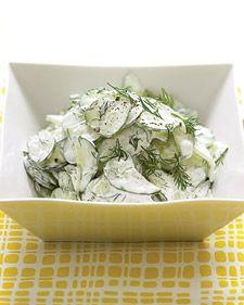Summer Love. Cucumber salad.  Greek yogurt, dill, lemon juice, salt and pepper.