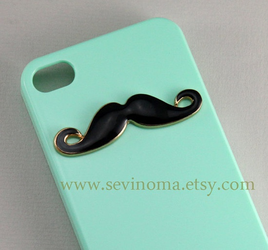 iPhone 4 Case,  Iphone 4 cover, iphone 4s case. Mustaches ?