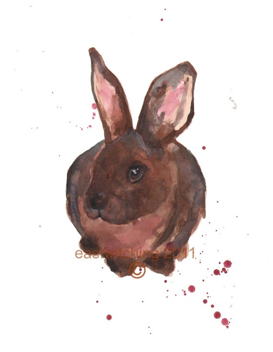 Rabbit Watercolor by Dorothy Demure