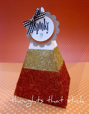 Thoughts That Stick . : Candy Corn Petal Cone Treat Box
