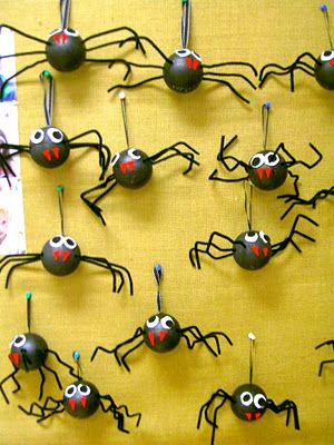 Great styrofoam spiders for kids to do.Love them.