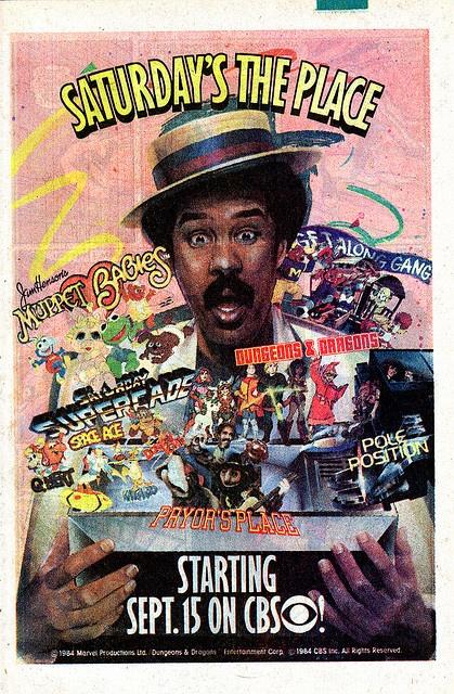 Saturday Morning Cartoon AD CBS 1984 by smurfwreck77, via Flickr