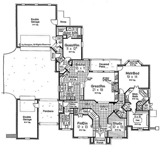 Private Parking Courtyard House Plan