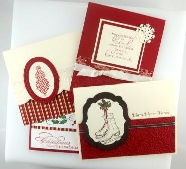 12 Handmade Christmas Cards. $21.00, via Etsy.