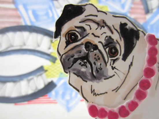 Custom Portrait Of Your Pet - Cardboard Cut Out Original Illustration. $35.00, via Etsy.