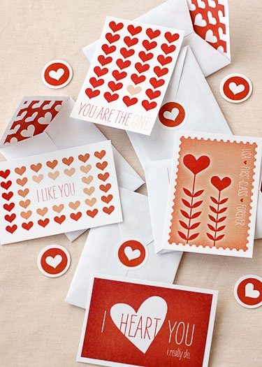 printable mini valentine kit