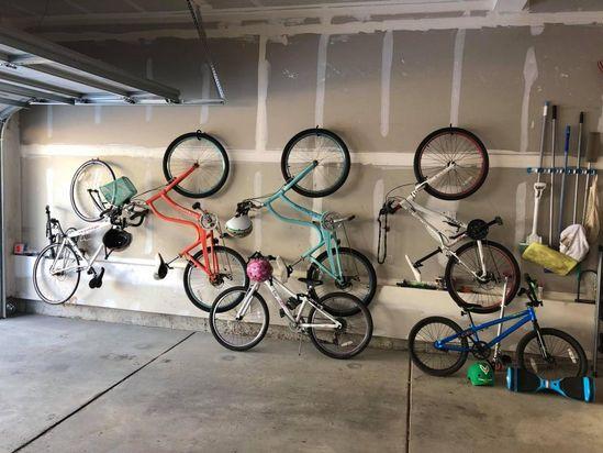19 Bike Storage Garage Wall Ideas, Garage Bike Storage Hanging