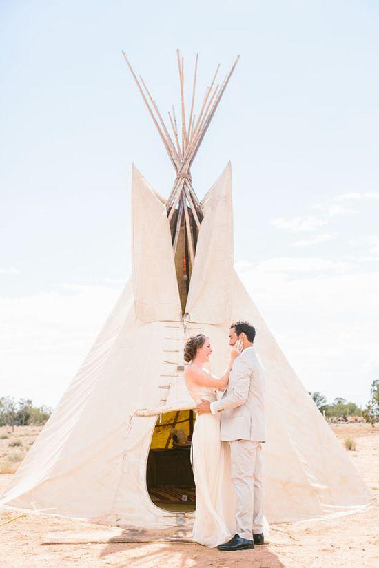 Bohemian New Mexico wedding