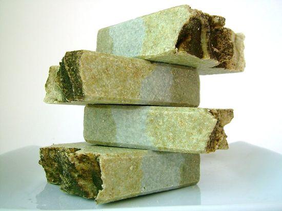 Fresh Air Natural Sea Salt Soap Vegan SPA Eco Friendly Green with Mint Eucalyptus Rosemary