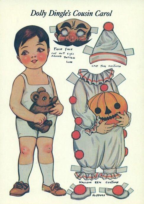 Great vintage Halloween paper dolls.