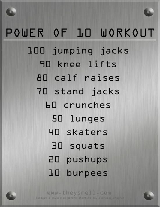 power of 10 workout