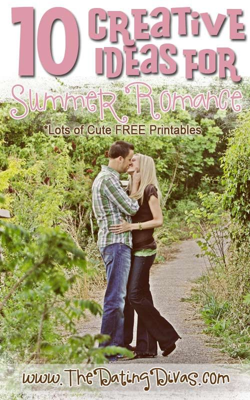 TEN fun and creative ideas to keep the summer romance alive! Lots of free printables included! www.TheDatingDiva... #summer #freeprintables #summerfun
