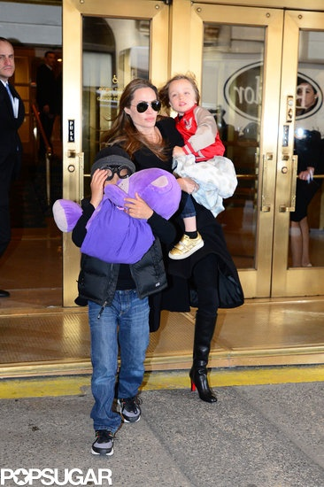 Angelina Jolie makes a toy shop stop
