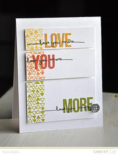 Love You More Card {Studio Calico February Kit}
