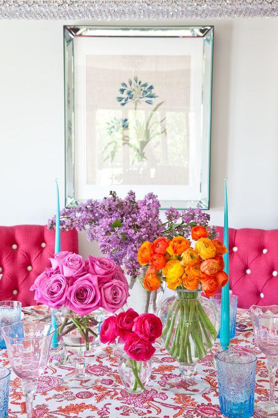 Flowers, linen, glassware