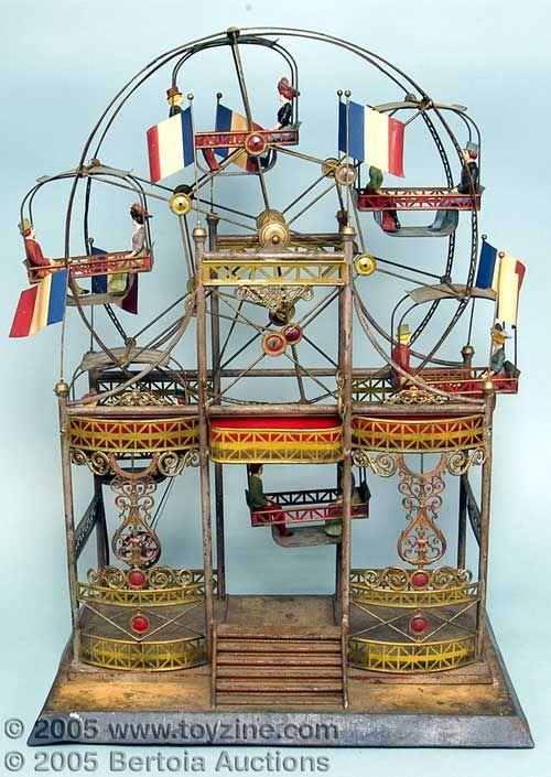beautiful antique German toy ferris wheel