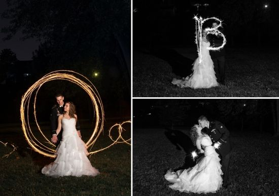 Romantic wedding sparklers.