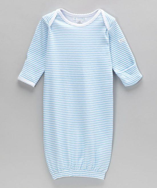 Love newborns in gowns! So easy - Mooncakes Blue Stripe