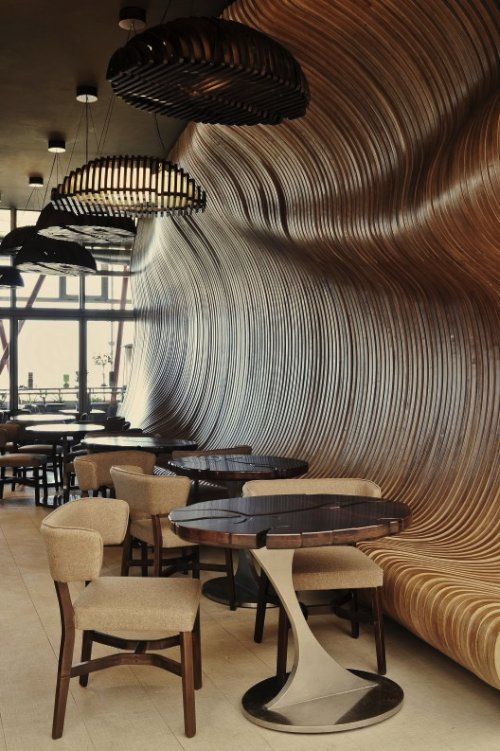 don cafe house - unusual application of wood