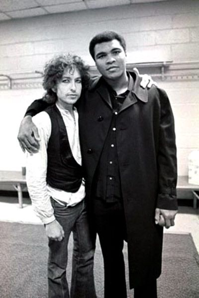 Ali with Bob Dylan