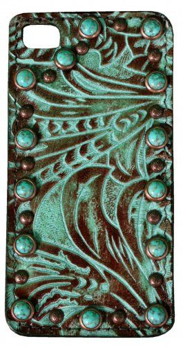 Turquoise Brandy/Western Floral Print Leather iPhone Case by Double J Saddlery....tooo bad they don't make these cases for other phones besides the damn iphone :(