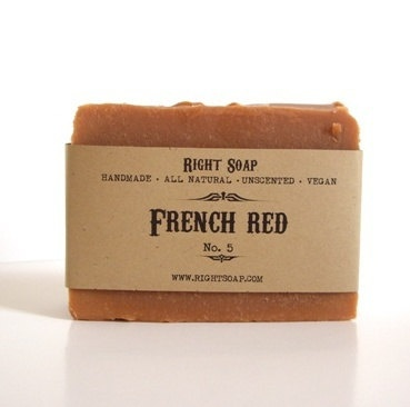 French Red Clay Soap  Soap Vegan Soap Unscented Soap by RightSoap, $6.00