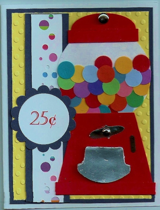 Gumball machine Card Made by Patty Klundt