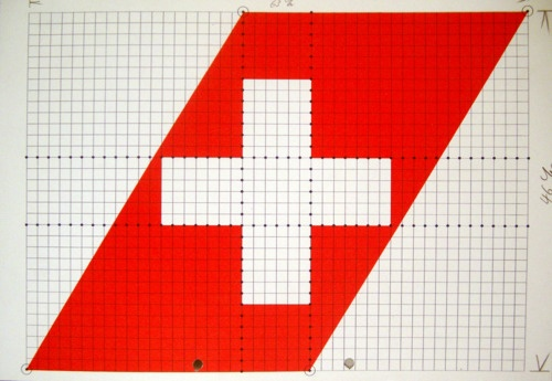 Swiss Air tail graphic structure