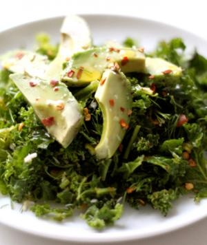 Kale salad with avocado -- a perfect #healthy #dinner