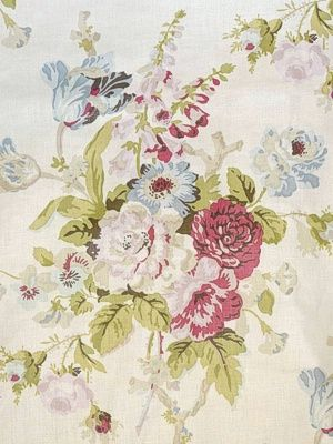 Lee Jofa Fabric Grenville Glazed Chintz-Pink/Green $195.75 price per yard #interiors #decor #florals