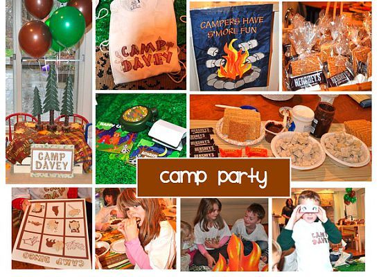 camping birthday party -