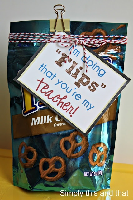 Back to School Teacher Gift.  Im going to change it for my husband~those are his fav.