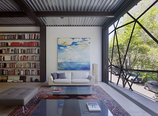 Living Room design from the Gallery House, San Francisco deisnged by Ogrydziak/Prillinger Architects