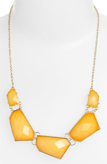 Stephan & Co. Facet Statement Necklace
