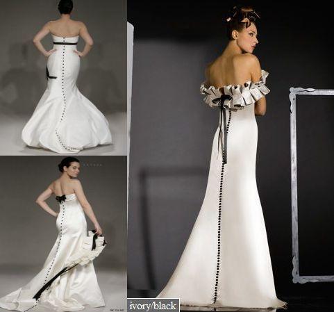 Black and White Wedding Dresses